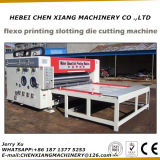 供給2カラーFlexoのチェーン印刷の細長い穴がつき、型抜き機械