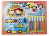 Livre de coloration d'enfants avec le crayon lecteur/Creatinvity de Blendy pour des gosses