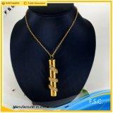 Pendant en cristal de serpent d'acier inoxydable d'or de luxe de mode pour les hommes