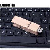 Presente gravado laser instantâneo da promoção do logotipo do USB Pendrive do grampo de madeira