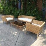 Patio Muebles de jardín Lounge Silla de mimbre Sala de estar Juego de sofá de ratán tejida a mano