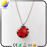 Fresh Pinch Flower Necklace De Prata Women Locket Pingente De Estilo Nacional