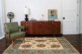 北欧の方法アメリカの牧歌的なハンドメイドのウールのカーペットの簡単な現代ペルシャ絨毯の居間の寝室のインドのウール十分に