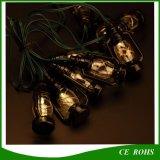 شمسيّة أسود [10بكس] صغيرة حصان حجر السّامة خيط أضواء لأنّ عيد ميلاد المسيح عطلة