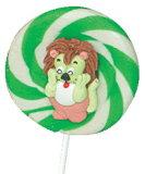 漫画は飴玉および渦巻キャンデーを計算する