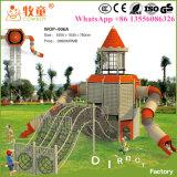 Avventura esterna dei bambini che arrampica campo da giuoco esterno per l'asilo (WOP-006B)
