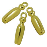 Oro personalizzato del metallo rotondo e fascini dell'ananas