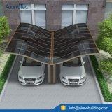Económica Polycarbonated techo de aluminio cubierta Cochera