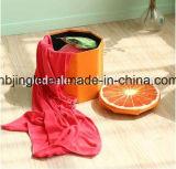 熱い販売! フルーツのオレンジデザイン円形のFoldable群がらせた記憶のオットマン