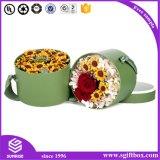 ハイエンド習慣によってリサイクルされる革包装の花ボックス