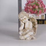 Standbeeld van de Engel van de Hars van de douane het Antieke Witte voor de Decoratie van het Huis