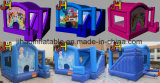 Combinación inflable de encargo para los cabritos, despidiendo el castillo inflable para la diapositiva comercial, inflable