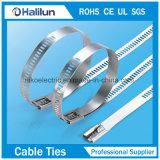 SS-Strichleiter-multi Widerhaken-Verschluss-Kabelbinder für die Gurtung von zwei Schößen