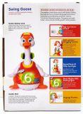 Brinquedo educacional plástico do bebê do ganso do balanço dos miúdos