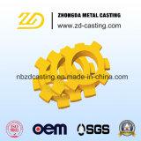 Pezzo fuso di sabbia personalizzato per l'alto connettore dell'acciaio di manganese in Cina
