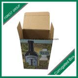 Venda por atacado ondulada da caixa de papel de embalagem do vinho do projeto luxuoso