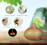 Difusor de madeira leve do aroma da grão do diodo emissor de luz da névoa fresca ultra-sônica 7-Color