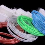 Grelle Beleuchtung TPE-materielle Daten, die USB-Kabel für Handy aufladen