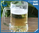 420ml épaississant la cuvette transparente en verre de bière