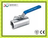 Prix bon marché de robinet à tournant sphérique de flottement du moulage de précision 1PC
