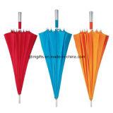 Gli ombrelli di golf diritto trattano il grande ombrello manuale