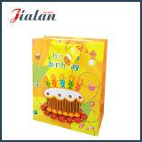 3D 생일 손잡이를 가진 종이에 의하여 인쇄된 물색 선물 부대를 주문을 받아서 만드십시오