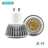 Bulbo caliente de la lámpara LED del punto del blanco LED de la MAZORCA de rhos GU10 3W del Ce