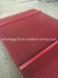 Acero con alto contenido de carbono, malla de tela ondulada con color rojo