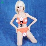 セリウムのRoHS Wmの人形140cmの終わりの目小さい胸の性の人形の平らな箱の大人のシリコーンの性の人形