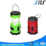 Lanterna de acampamento solar do diodo emissor de luz da alta qualidade com o carregador do telefone de pilha