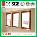 나무로 되는 색깔 알루미늄 프레임 Tempered 안전 유리 여닫이 창 Windows