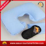 Almohadilla inflable del cuello de la multitud del PVC para viajar o la línea aérea
