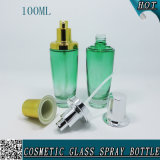 100ml Green Cosmetic Body Lotion Serum Glass Emulsion Bottle