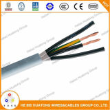 Чуть-чуть медный проводник PE/PVC с общим залуживанным силовым кабелем и шнуром питания медного кабеля соединения мотора заплетения гибким
