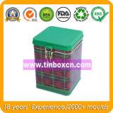 Scatola di quadrata il tè del metallo per il contenitore dello stagno dell'alimento