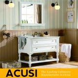 簡単な様式の純木の浴室の虚栄心の浴室用キャビネットの浴室の家具(ACS1-W06)