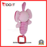 Giocattolo del bambino della peluche del giocattolo del bambino dell'elefante dentellare di musica con il gancio
