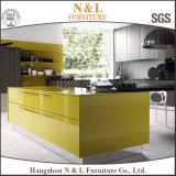 Venta caliente armarios de cocina de madera de chapa de madera Serie Mobiliario de cocina