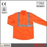 Fabriek 100% het Overhemd Vis van het Werk van de Polyester hallo van de Kleding van Fuzhou