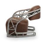 Dachboden-Art-klassischer nahtloser Stahl-Armlehnen-Stuhl Yh-148