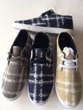 2017 neue Entwurfs-Mann-Form-Segeltuch-Schuhe mit Blumendruck
