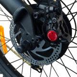 Fare maturare la bici di montagna elettrica di disegno con la forcella della spalla