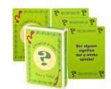 Cartões de jogo de papel relativos à promoção de Fairplay Respekt
