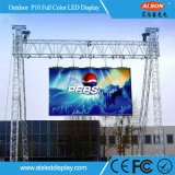 Im Freien P10 farbenreicher Bildschirm der Miete-LED für Stadium