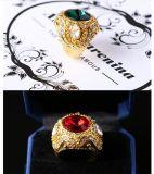 Weinlese-grosse Ring-Antike-Goldfarben-Harz-Ringe für das Mann-Türkische-Schmucksachen