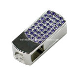 Movimentação de cristal do flash do USB do giro do metal da memória Flash do USB