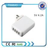 2016 cargador de pared Mejores Ventas de 4 puertos USB cargador de pared USB del teléfono celular para el teléfono móvil