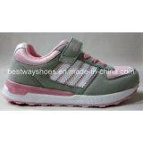 Chaussures occasionnelles de gosses de chaussures de chaussures confortables d'enfants avec le haut de suède