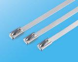 Крыло связей кабеля нержавеющей стали серебра хорошего качества зафиксировало тип связи застежка-молнии