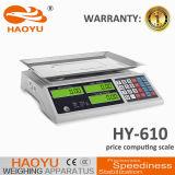 Kommerzielle elektronische wiegende Preis-rechnenschuppe 3kg-60kg